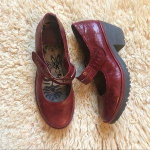 Fly London   leather Mary Jane Heels- Woka 38